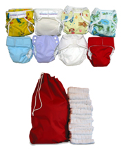 Cloth Diaper Deluxe Package Deal