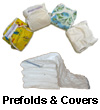 Prefold Diapers and Waterproof Covers Package